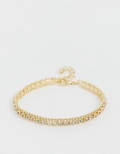 Золотистый браслет-цепочка с кристаллами ASOS DESIGN - Золотой