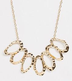 Золотистое массивное ожерелье с кольцами ASOS DESIGN Curve - Золотой