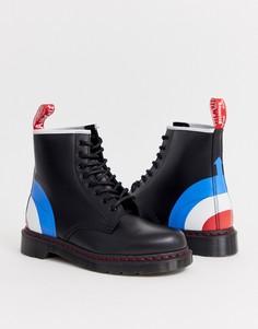 Ботинки с 8 парами люверсов и принтом мишени Dr Martens x The Who 8 - Черный