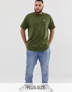 Удлиненная футболка с необработанным краем Le Breve Plus - Зеленый