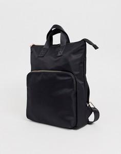 Рюкзак для ноутбука с фурнитурой цвета розового золота ASOS DESIGN - Черный