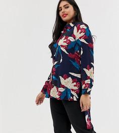 Длинная рубашка с цветочным принтом Koko - Мульти