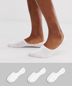 Комплект из 3 пар белых носков Selected Homme - Белый