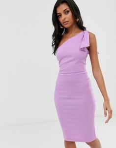 Облегающее платье миди на одно плечо Vesper - Фиолетовый
