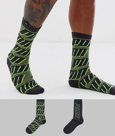 Комплект из 2 пар серых носков с логотипом Puma - Серый