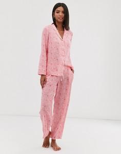 Пижамные брюки Pour Moi summer daze - Розовый