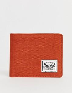 Кредитница цвета ржавчины с карманом для монет и RFID-защитой Herschel Supply Co Roy - Красный