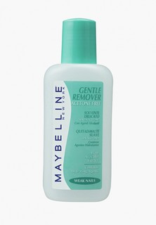 Средство для снятия лака Maybelline New York Gentel Remover, с экстрактом авокадо, для ломких ногтей, без ацетона, 125 мл