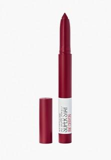 Помада Maybelline New York Superstay Ink Crayon, оттенок 55, красный, Сделай это возможным, 1.5 гр
