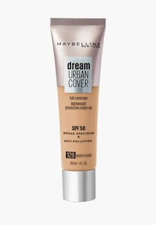 Тональное средство Maybelline New York Dream Urban Cover SPF 50, оттенок 128, Теплый бежевый, 30 мл