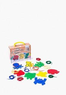 Набор игровой Miniland обучающий шнуровка Animal Lacing в чемоданчике