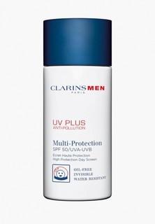 Крем солнцезащитный Clarins Men Uv Plus Anti-Pollution Day Screen SPF50, 50 мл