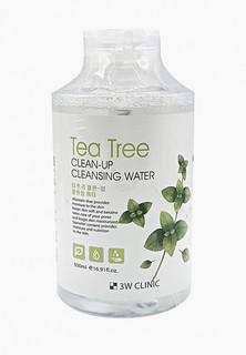 Мицеллярная вода 3w Clinic с экстрактом чайного дерева, 500 мл