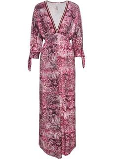 Платья макси Платье с V-образным вырезом Bonprix
