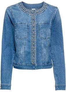 Джинсовые куртки Куртка джинсовая со стразами Bonprix