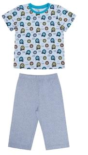 Пижама для мальчика Сновидения серая с рисунком львы Barkito