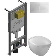 Комплект унитаза Jacob Delafon Jacob Delafon Presquile с инсталляцией, кнопкой, сиденьем микролифт (E4440-00, E29025-NF, E4316-CP)