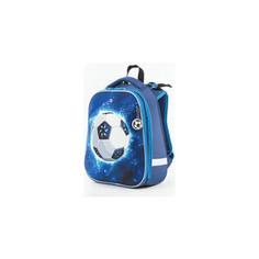 Ранец с жестким каркасом BRAUBERG PREMIUM для мальчиков, Футбол, 38х29х18 см, 227814