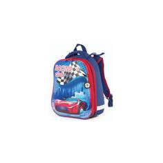 Ранец с жестким каркасом BRAUBERG PREMIUM дополнительный объем, для мальчиков, Гоночный клуб, 38х29х18 см, 227819