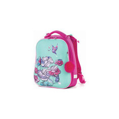 Ранец с жестким каркасом BRAUBERG PREMIUM для девочек, Весенняя мята, 38х29х18 см, 227817
