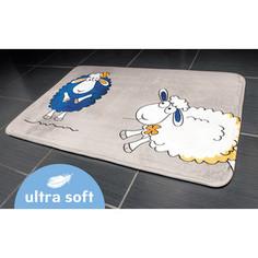 Коврик для ванной Tatkraft FUNNY SHEEP ULTRA SOFT со специальным противоскользящим основанием, 50 x 80 см (14947)