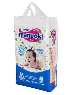 Подгузники Manuoki M 6-11кг 56шт