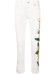 Dolce & Gabbana джинсы с принтом Bird of Paradise