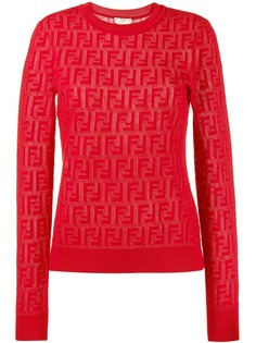 Fendi свитер жаккардовой вязки с логотипом FF