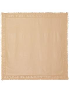 Burberry жаккардовый шарф с монограммой