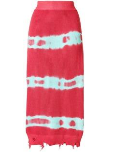MSGM трикотажная юбка с принтом тай-дай