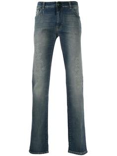 Etro джинсы прямого кроя с вышивкой