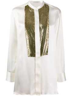 Etro блузка с тиснением под змеиную кожу