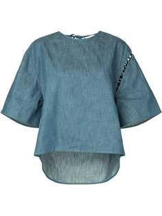 Maison Mihara Yasuhiro джинсовая футболка с широкими рукавами