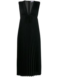 RedValentino плиссированное платье миди