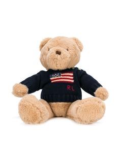 Ralph Lauren Kids плюшевый медведь в вязаном свитере с логотипом