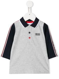 Boss Kids рубашка-поло в стиле колор-блок