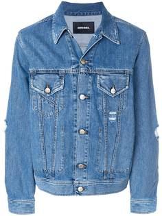 Diesel джинсовая куртка с потертой отделкой