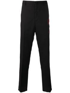 Lanvin брюки с вышитой стрелой