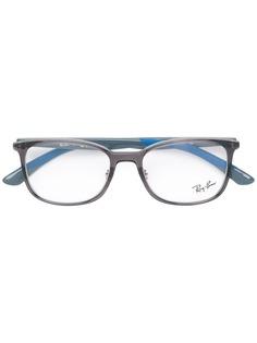 Ray-Ban очки в квадратной оправе дизайна колор-блок