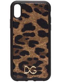 Dolce & Gabbana чехол для iPhone XR с леопардовым принтом