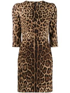 Dolce & Gabbana платье с леопардовым принтом