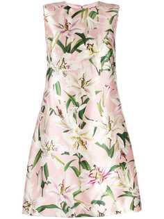 Dolce & Gabbana атласное платье с принтом