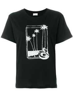 Saint Laurent футболка с принтом