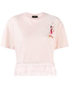 Alanui футболка Hawaiian Girl с бахромой