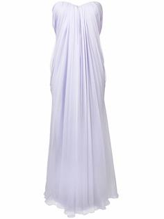 Alexander McQueen платье бандо с открытыми плечами
