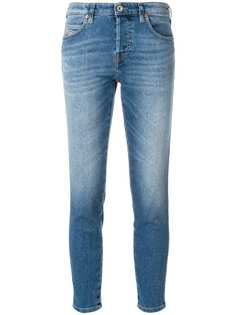 Diesel укороченные джинсы скинни с рваным деталями