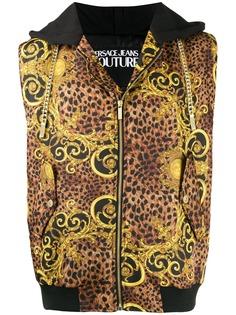 Versace Jeans Couture куртка без рукавов с узором