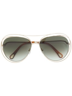 Chloé Eyewear солнцезащитные очки-авиаторы