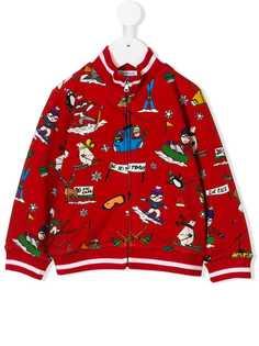 Dolce & Gabbana Kids куртка на молнии с принтом