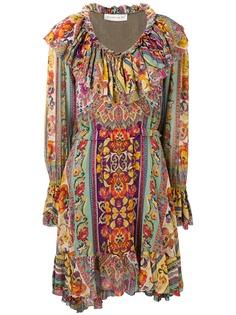 Etro платье с оборкой и цветочным принтом